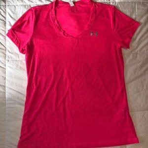 UNDER ARMOUR Pink V-Neck